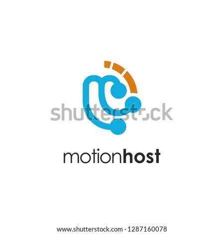 letter m logo and motion #1287160078