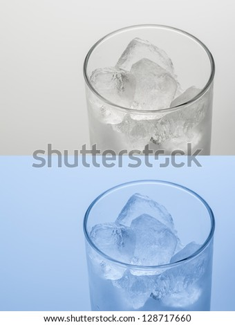 ice cubes in the glass #128717660