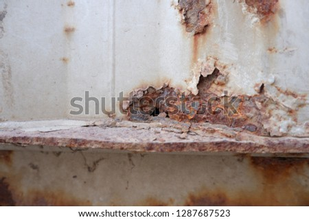 Rust on the steel surface #1287687523