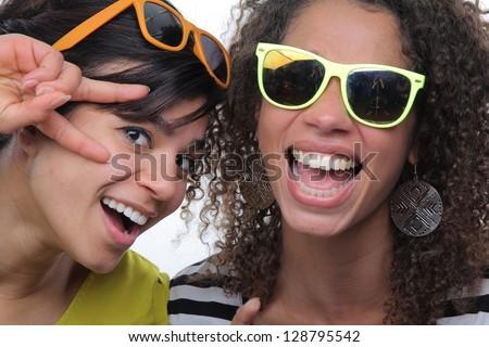 Beautiful ladies having fun #128795542