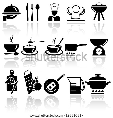 Kitchen and cooking icon set. EPS 10 #128810317