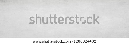 Long wide white light panoramic wallpaper. Monochrome texture background with white and gray color.Grunge old wall texture, concrete cement. #1288324402