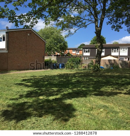 British Terraced housing, Sudbury Suffolk #1288412878
