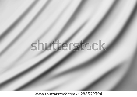 Black and white fabric texture background. / Soft image. #1288529794