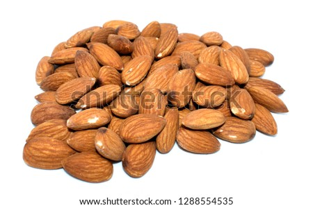 Almonds on background #1288554535