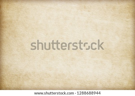Old Paper texture. vintage paper background or texture; brown paper texture #1288688944
