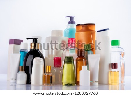 shower products on white reflective background #1288927768