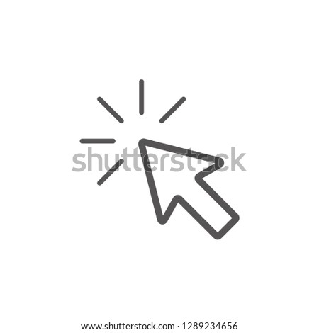 Cursor click icon graphic design template vector isolated #1289234656