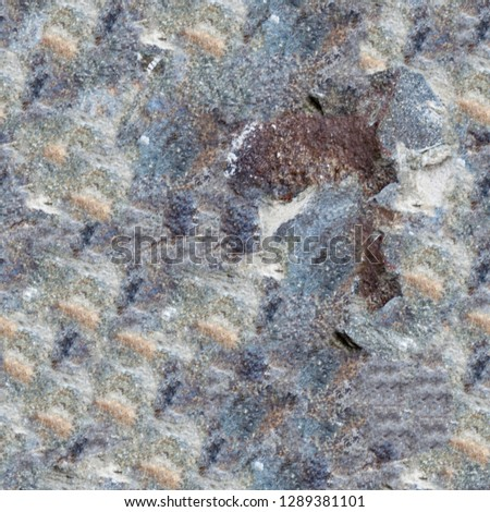 Abstract dirty stained grunge background. Wall background with color plaster. Modern art texture. Artistic backdrop with repetitive elements #1289381101