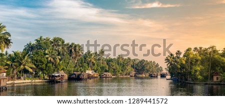 Boathouses at alleppey, kerala #1289441572