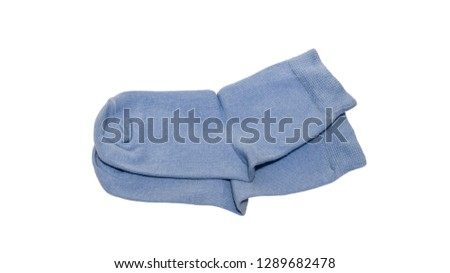 pair of blue socks #1289682478