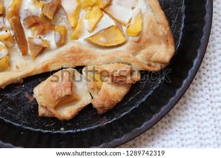 Mango & Yogurt Open Pie #1289742319