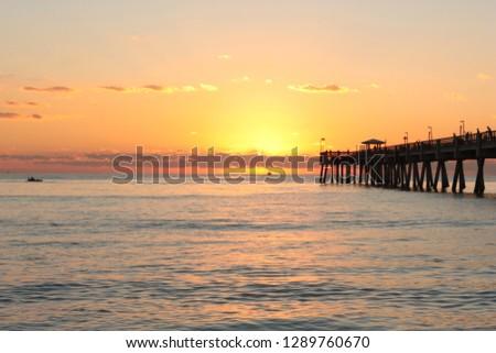 Beautiful Beach Dawn #1289760670