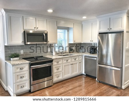 Lake house kitchen Royalty-Free Stock Photo #1289815666