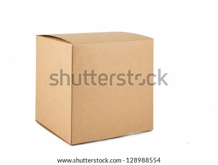 Corrugated cardboard boxes on white #128988554