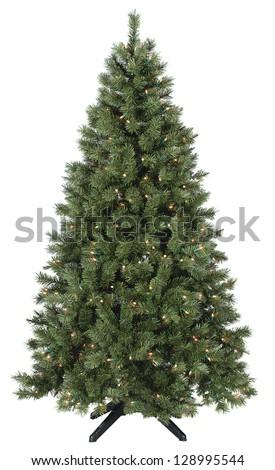 Christmas tree lit #128995544