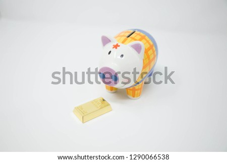 piggy bank with white background #1290066538