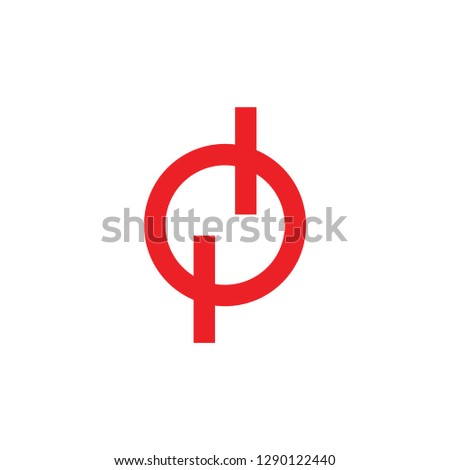 abstract letter n circle geometric negative space logo #1290122440