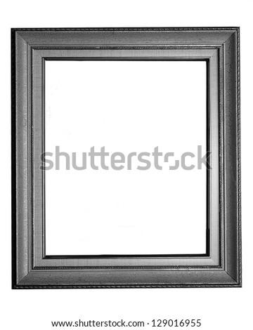 vintage photo frame on white background