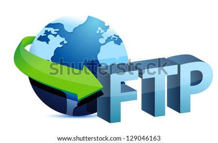 ftp global concept illustration design over a white background