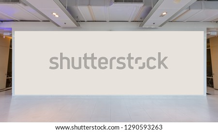 Fabric Pop Up basic unit Advertising banner media display backdrop, empty background #1290593263