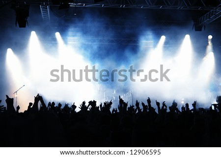 Cheering crowd at concert #12906595