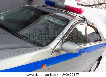 Police car goes on mission #1290677197