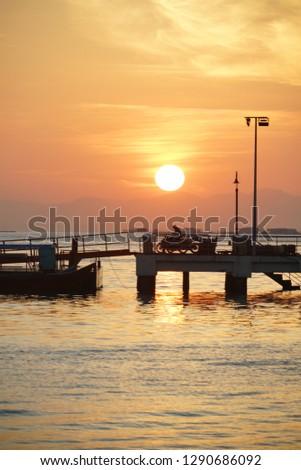 golden egg yolk sunrise #1290686092