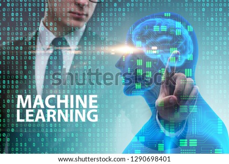 Machine learning concept as modern technology #1290698401