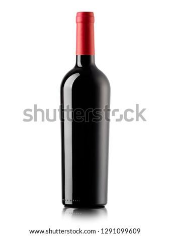 Red wine bottle #1291099609