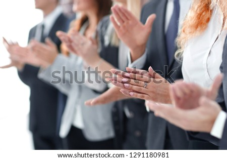 blurred image of business team applauding #1291180981
