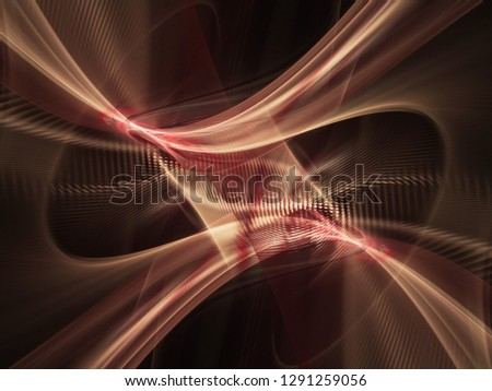 Abstract digital art background. Symmetry composition of curves ands grids. Detailed fractal graphics. Data science and digital technology concept. #1291259056