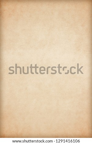 Old Paper texture. vintage paper background or texture; brown paper texture #1291416106