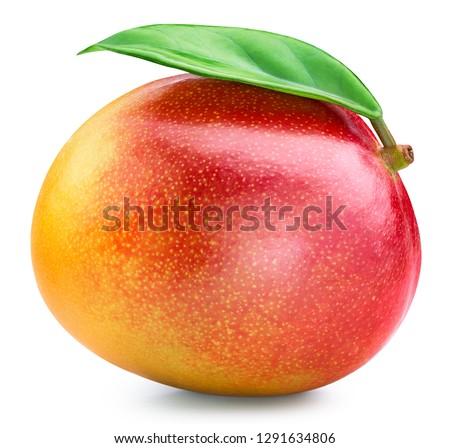 Mango isolated on white background. Mango Clipping Path Professional studio macro shooting #1291634806