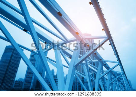 Close-up of Bridge Building Frame Royalty-Free Stock Photo #1291688395