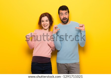 Couple in valentine day with surprise facial expression #1291711021