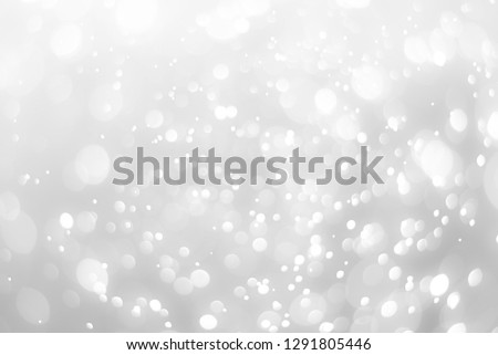 abstract white background with blur soft bokeh light effect #1291805446