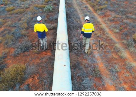 Pipeline inspection in Australian Outback #1292257036