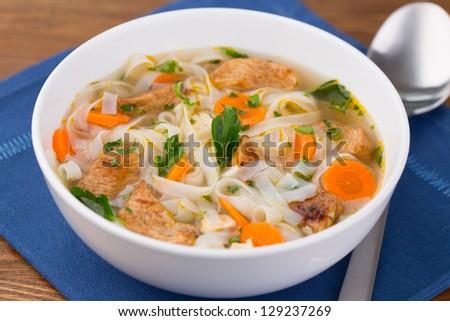 Chicken noodle soup #129237269