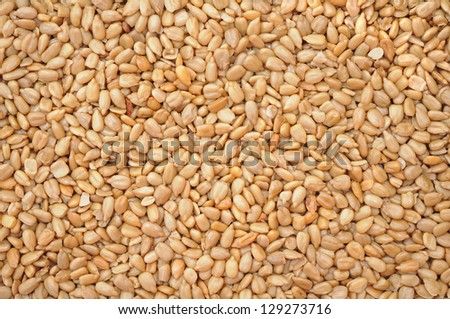 dried peeled sunflower seed for background uses #129273716
