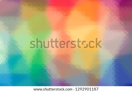 Illustration of abstract Orange, Green, Yellow And Red Glass Blocks Horizontal background. #1292901187