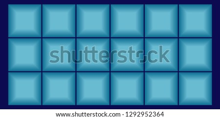 Beautiful background of blue squares on a changing background. Vector. #1292952364
