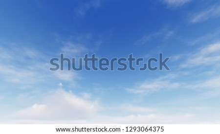 Cloudy blue sky abstract background, blue sky background with tiny clouds, 3d rendering #1293064375