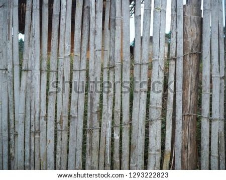 Wall made of bamboo, Natural materials #1293222823