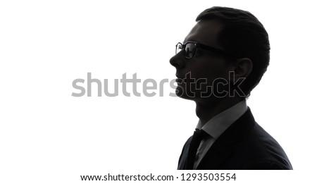 Silhouette of businessman. #1293503554