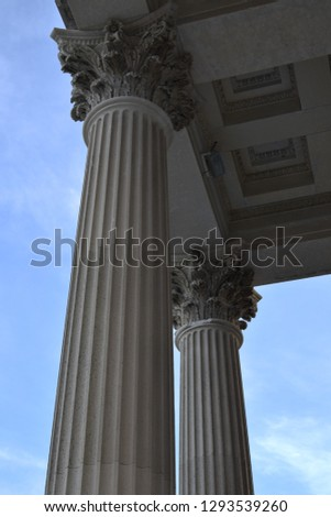 Columns on the United States Customs House in Charleston South Carolina #1293539260