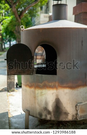 large outdoor stove #1293986188