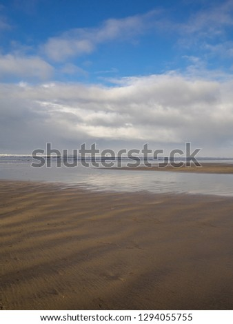 beautiful Westward Ho beach in North Devon Royalty-Free Stock Photo #1294055755
