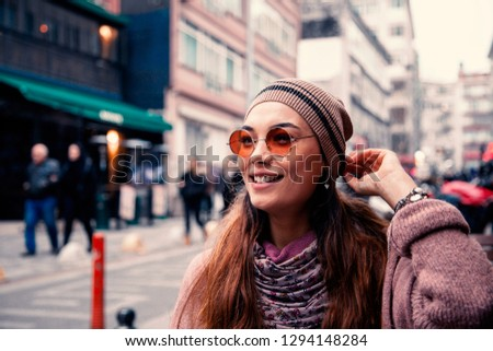 Young portrait woman in outdoors #1294148284