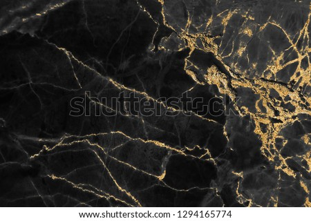 Black and gold marble texture design for cover book or brochure, poster, wallpaper background or realistic business and design artwork. #1294165774